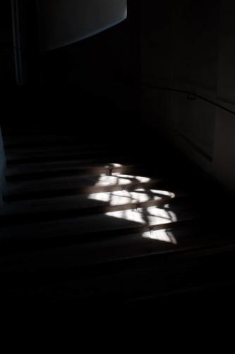 Detailní fotografie stínu na zemi