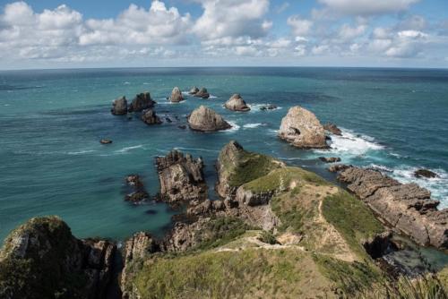 Fotografie přírody - Nugget Point, Nový Zéland